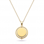 Empire Revival Round Spinner Gold Necklace