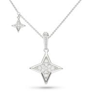 Empire Astoria Starburst Grande CZ Star Necklace