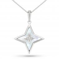 Empire Astoria Glitz Mother of Pearl & CZ Star Necklace
