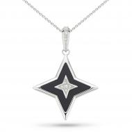 Empire Astoria Glitz Onyx & CZ Star Necklace