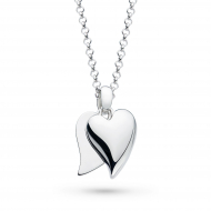 Desire Love Duet Heart Necklace