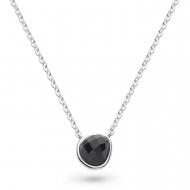 Coast Pebble Black Agate Mini Necklace