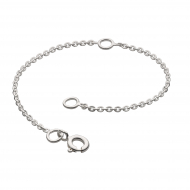 Rhodium Plated Chain Extender 4""